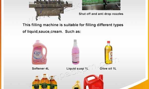 Автоматска машина за полнење со масло за јадење за готвење со глави 2, 4, 6, 8, 10, 12