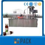 Автоматска машина за полнење со течни ротациони шишиња со обвивка