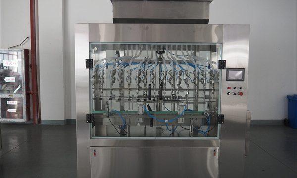Автоматска машина за полнење со течности за притисок на 12 глави