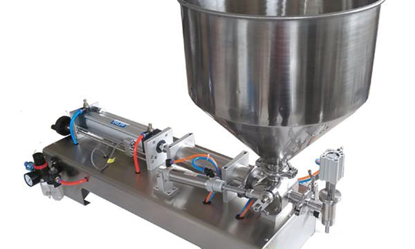 Полу-автоматска машина за полнење на мед со стаклени пиштоли