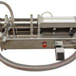 Полуавтоматска машина за полнење на месо со висока вискозност, лесен, мед