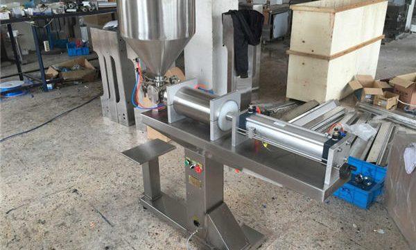 Полу-автоматска машина за полнење со единечна глава со мед