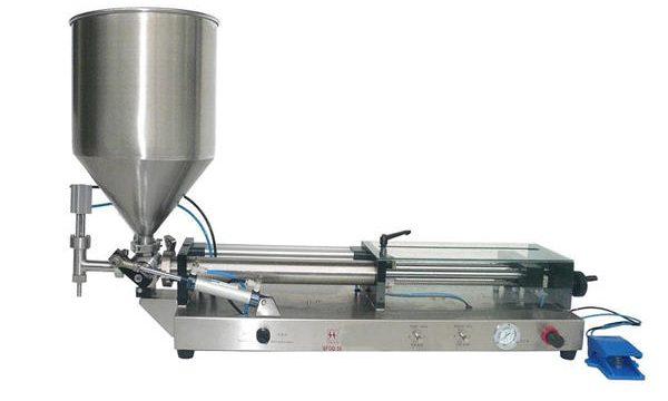Полу-автоматска машина за полнење кечап
