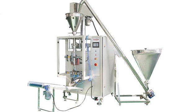 Вертикална автоматска машина за полнење и запечатување во прав