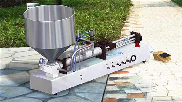Полу-автоматска вертикална машина за полнење паста за заби