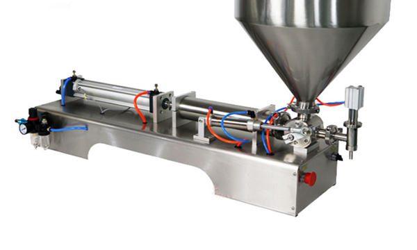 100-1000ml Полу-автоматска машина за полнење со крем за измазнување